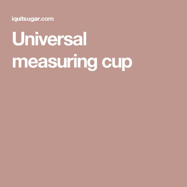 Universal measuring cup