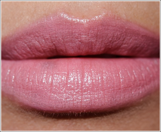 MAC Angel Lipstick is a softened, pale rosy pink.