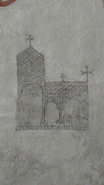 Väggmålning väte kyrka