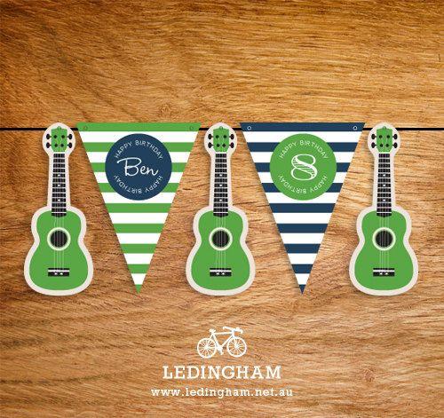 Rock Guitar Party Bunting Flags (DIY Printables). $5.95, via Etsy.