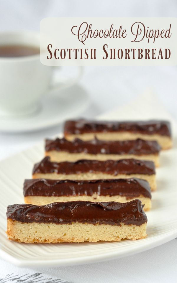 Scottish Shortbread – 4 ingredients to perfection...well 6 if you dip them in this indulgent chocolate ganache! A n ideal Christmas cookie for the Holiday freezer.