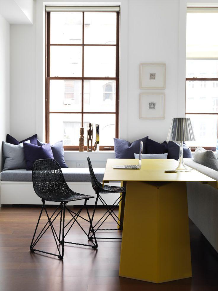 TriBeCa Loft contemporary Home Office