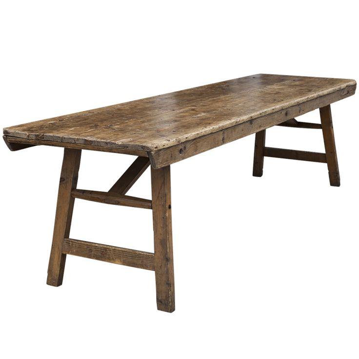Primitive Farm / Work Tables  | 1stdibs.com
