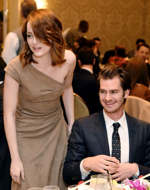 Emma Stone and Andrew Garfield attend the 17th annual AFI Awards at Four Seasons Los Angeles at Beverly Hills on January 6, 2017 in Los Angeles, California.