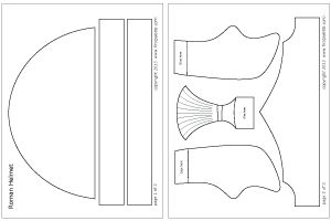 Roman Imperial helmet plain template