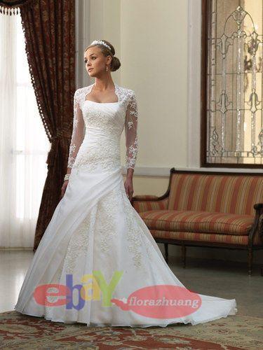 Brautkleid hochzeitskleid mit bolero jacke