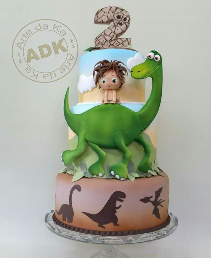 Good Dinosaur Cake Design : Disney Pixar s The Good Dinosaur Cake 3-Tier Birthday Cake ...