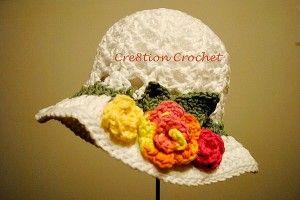 free crochet pattern toddler spring hat