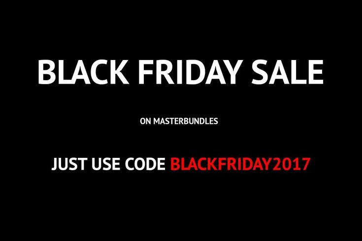 #blackfriday #Sale on #MasterBundles – 50% OFF. 23-28 November only. Just use code BlackFriday2017