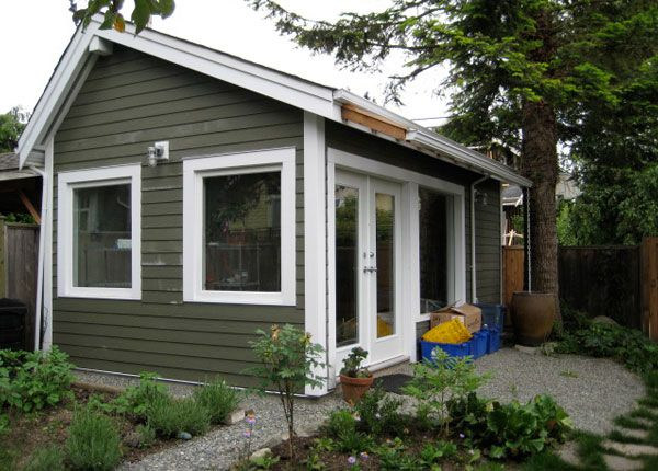 tiny garage studio small homes laneway houses in vancouver backyard potting studio
