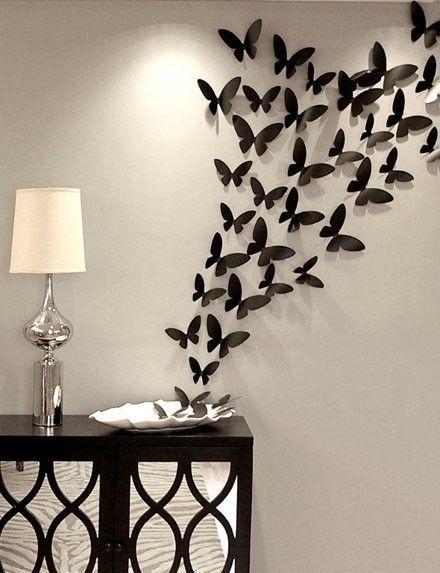 Mur 3D en papier papillon sticker 3D papier par LeCoquetterieShop
