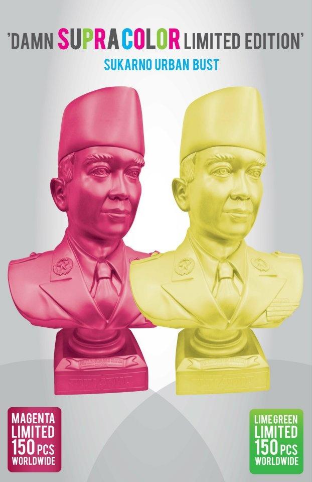 2008 Contemporary design of Sukarno busts
