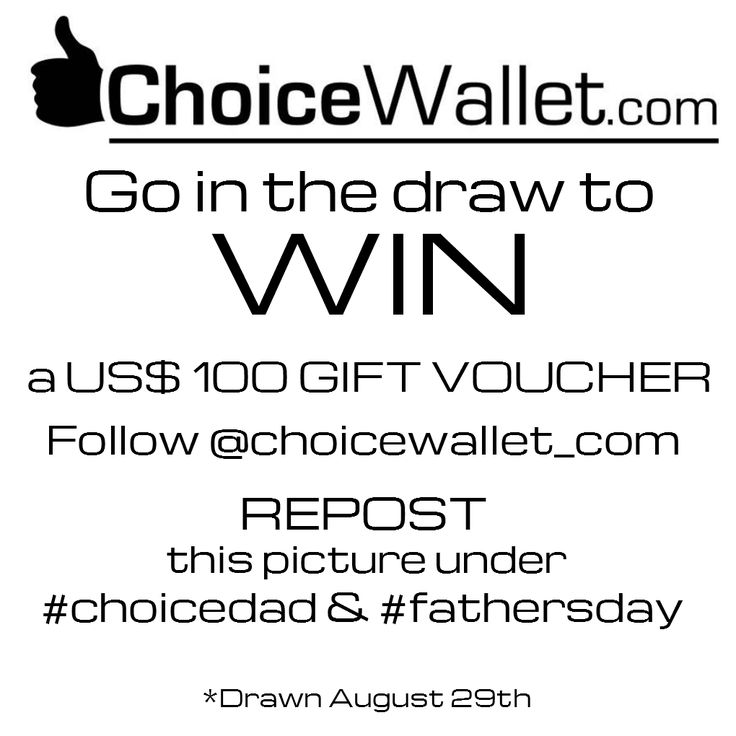 NZ Fathers Day IG Promo on now :) www.choicewallet.com ideal fathers day presents that he will use every day .