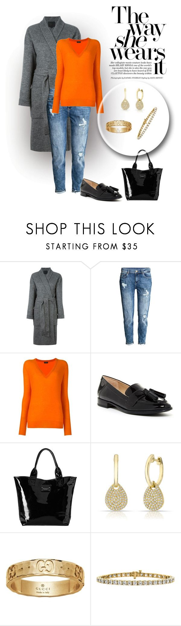 """Untitled #2156"" by swc0509 ❤ liked on Polyvore featuring Alexander Wang, H&M, Joseph, Via Spiga, Seafolly, Anne Sisteron and Gucci"