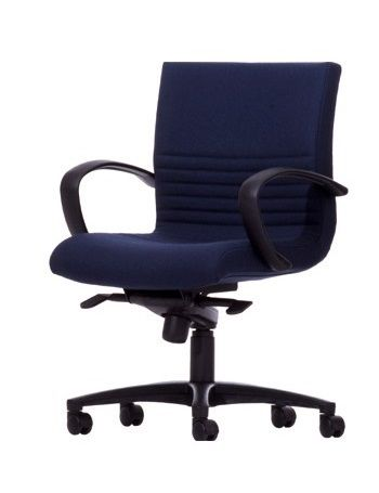 The Boss Executive Mid Back Chair features a unique Back ribbing in the Lumbar region and an active moving back design #seated #office #chair #meeting