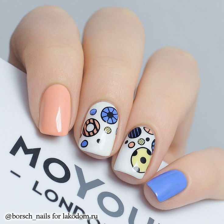 #circle #polkadot #springcolor #nails #nailart