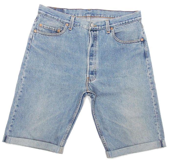 b6c5ebab Vintage Levis 501 Denim Shorts Mens USA Made 80s 90s Turnn Ups Cuffed  Stonewash Blue W35