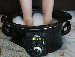 Slow Cooker as a Foot Bath: Buy a separate slow cooker to use for your feet and kick back and relax with this slow cooker foot bath. This is a great idea around the holidays when everyone is super stressed! LOOOOOL