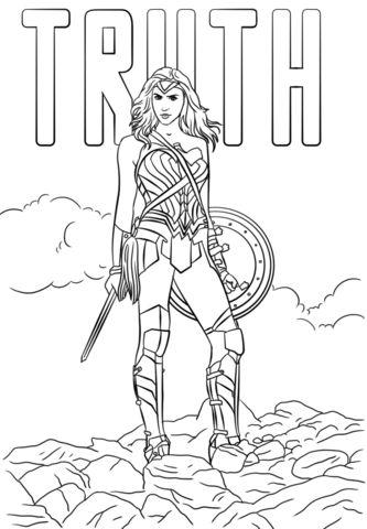 Wonder Woman Truth Dibujo para colorear   Páginas para ...