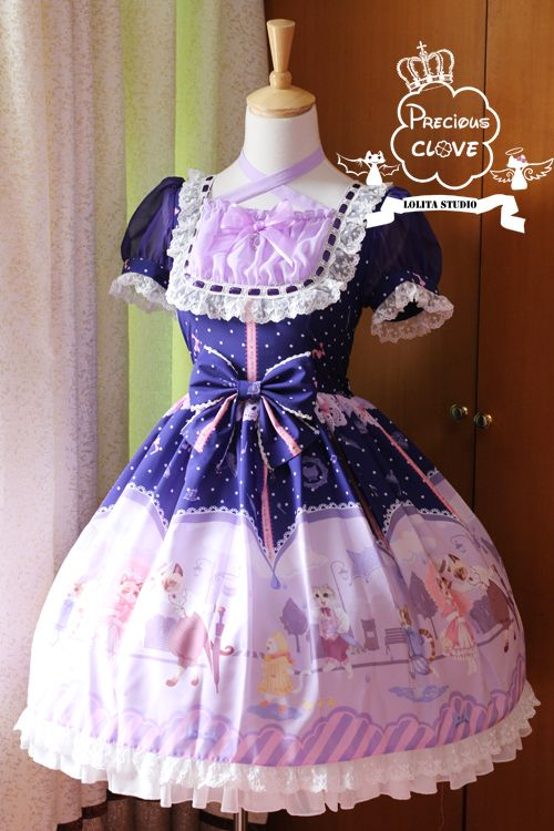 ***Pre-order: Precious Clove ❤☂♡~ Singing In The Rain ~♡☂❤ Series ***Key Features: +Custom sizing available+, +Detachable cat tail+, +Top quality and super kawaii design+ ***Learn More: http://www.my-lolita-dress.com/newly-added-lolita-items-this-week/precious-clove-singing-in-the-rain-series-pre-order