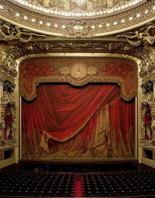 The origin of all drama- the curtain. The red, velvet, gilded curtain. But what lies behind?!