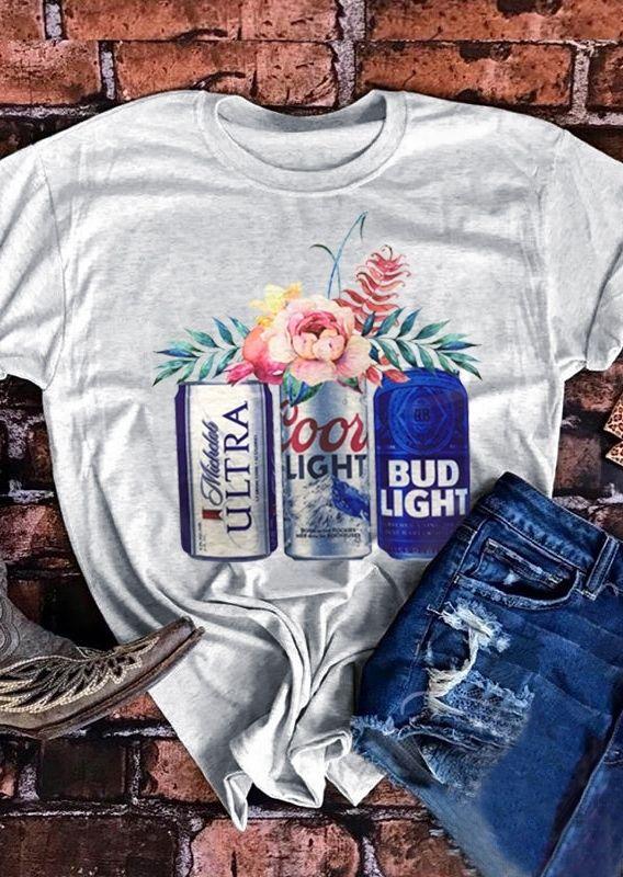 6aaa72f10 Coors Light Bud Light Michelob Ultra Beer T-Shirt - Bellelily ...