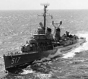 USS Walker (DD-517) Fletcher-class destroyer named for Admiral John Grimes Walker. (1835-1907).