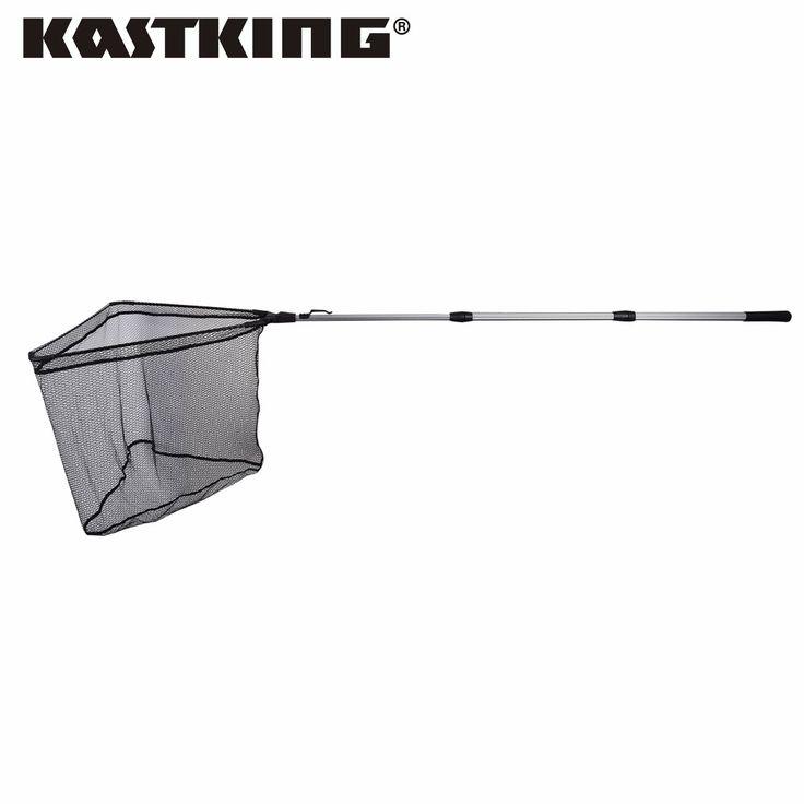 KastKing Triangular Frame Folding Landing Net Aluminum 3 Section Extending Pole Handle Fly Fishing Net Fishing Equipment