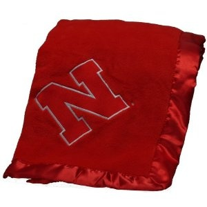 Pickles Embroidered Fleece Baby Blanket with Satin Trim - University of Nebraska (Baby Product)