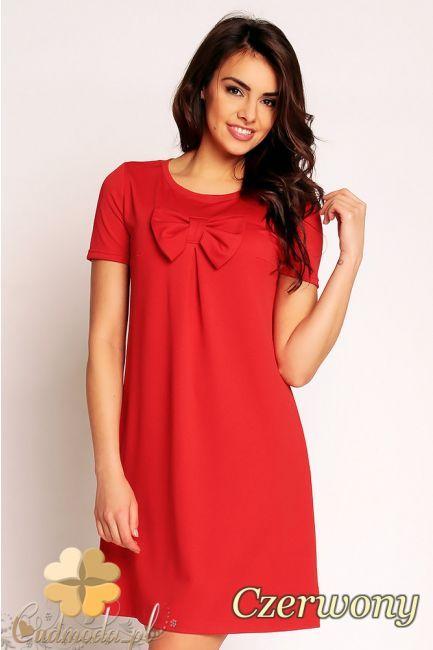 Trapezowa sukienka z kokarda marki Nommo.  #cudmoda #moda #ubrania #sukienki #dresses #dress #kleid
