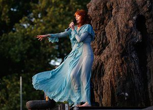 Florence Welch among the trees of Hyde Park.