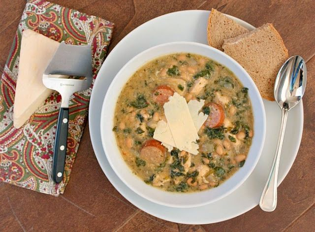 APPLE A DAY: Slow Cooker Chicken Stew with Sausage, White Beans, and ...