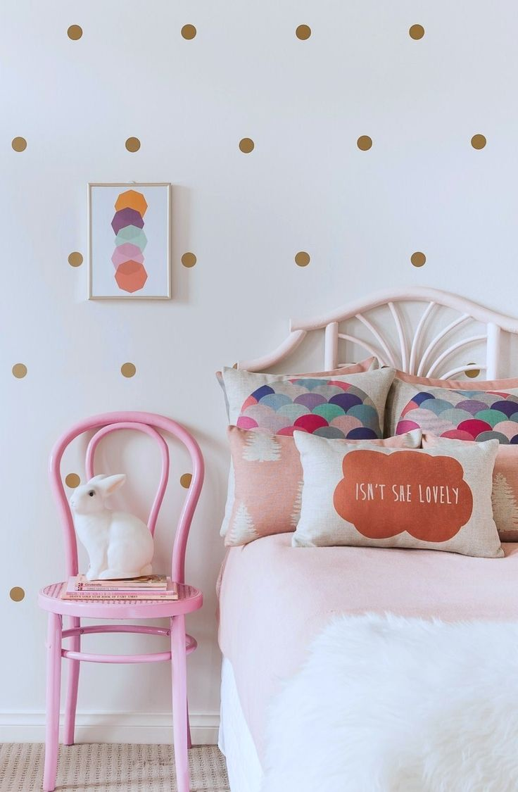 Gold Polka Dot Wall Decals by Empire