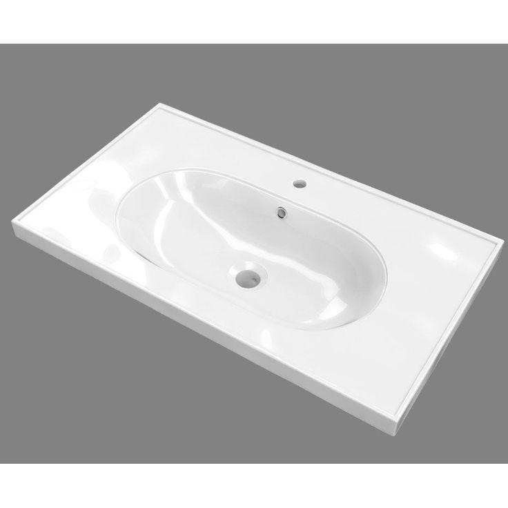 Plan Vasque Simple Ceramique Sensea Charm Plan Vasque Vasque Et Idee Salle De Bain