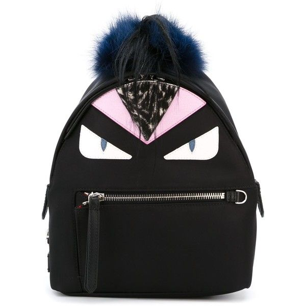 Fendi Nylon Back Pack With Print (94.115 RUB) ❤ liked on Polyvore featuring bags, backpacks, black, miniature backpack, pattern backpack, fendi backpack, mini rucksack and zip bags