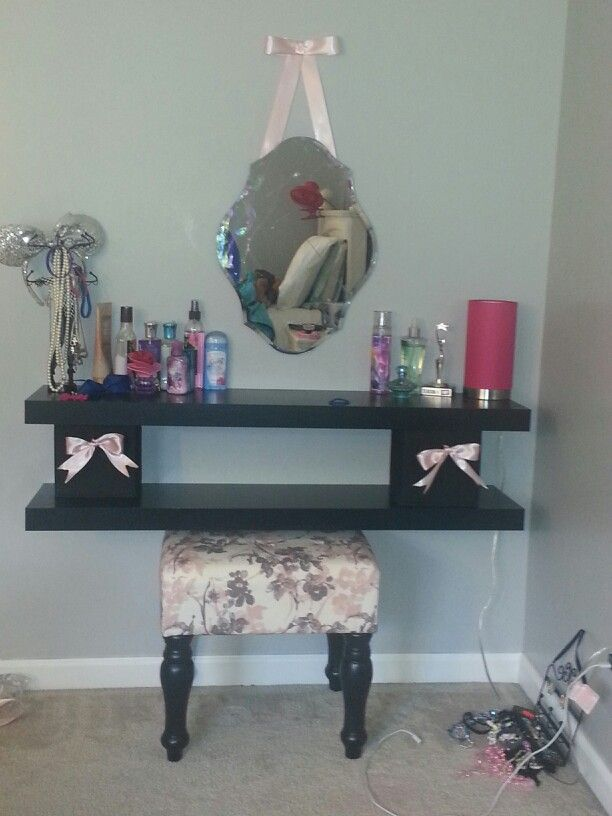 73 best diy little girls vanity play makeup images on pinterest i like this double level idea find this pin and more on diy little girls vanity solutioingenieria Image collections