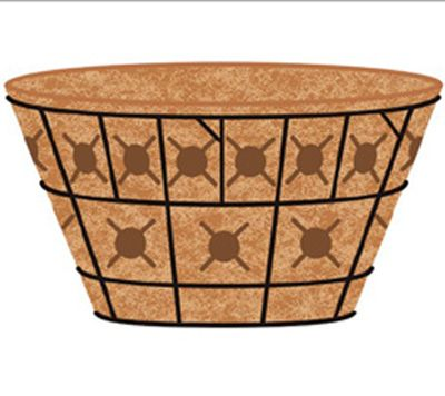 "20"" Double Tier Basket Planter & Liner Set"