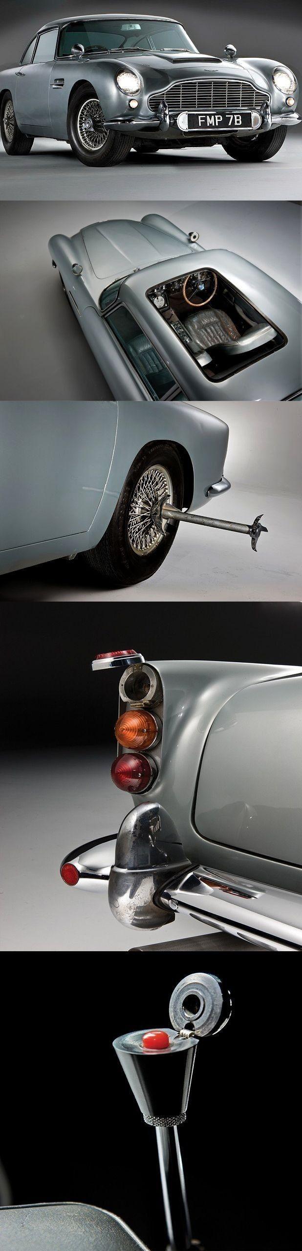 Bond's Aston Martin used in Goldfinger