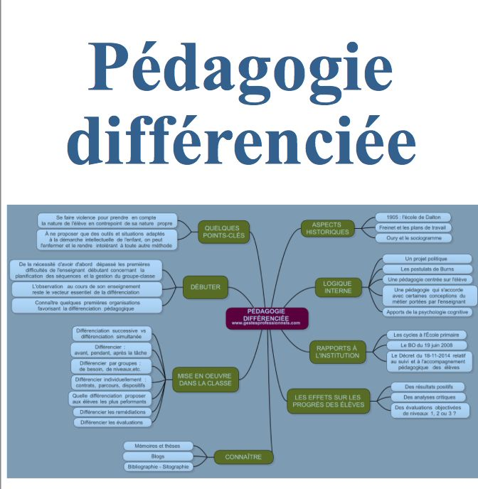 """Un nouveau dossier : """"Pédagogie différenciée"""", un des sujets les plus vaste et complexe que j'ai eu à traiter dans ce blog. En espérant ne pas l'avoir trahi ..."""