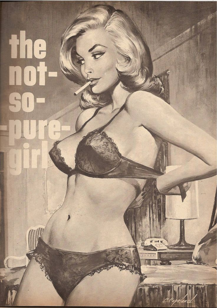 """pinterest.com/fra411 #pulp - Charles Copeland July 1965 - """"The Not-So-Pure Girl"""" detail"""