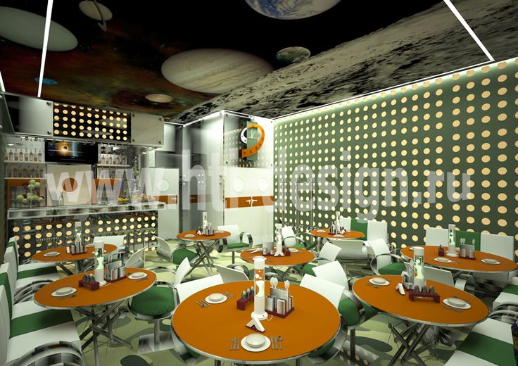 Youth center in military style - cafe