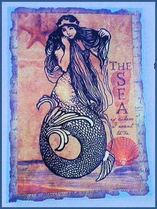 Love vintage mermaid pictures.