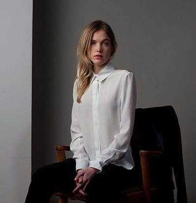 Lila shirt. Available ready-to-wear. http://katherinehooker.com/catalog/winter-collection/lila-shirt/