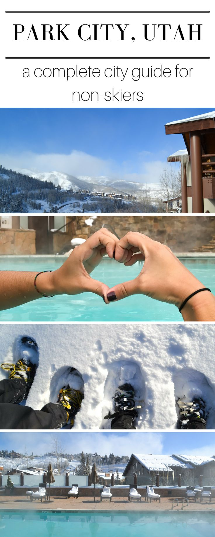 Make Park City Utah your next winter destination!  Besides Sundance Film Festival, there's just SO much more to to do in Park City besides ski, I promise!  This guide has everything you need and more for a complete weekend in this beautiful city of Park City!  There are so many things to do in Park City for the non-skier!