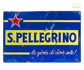 Elemento decorativo in metallo S.Pellegrino - anni 50