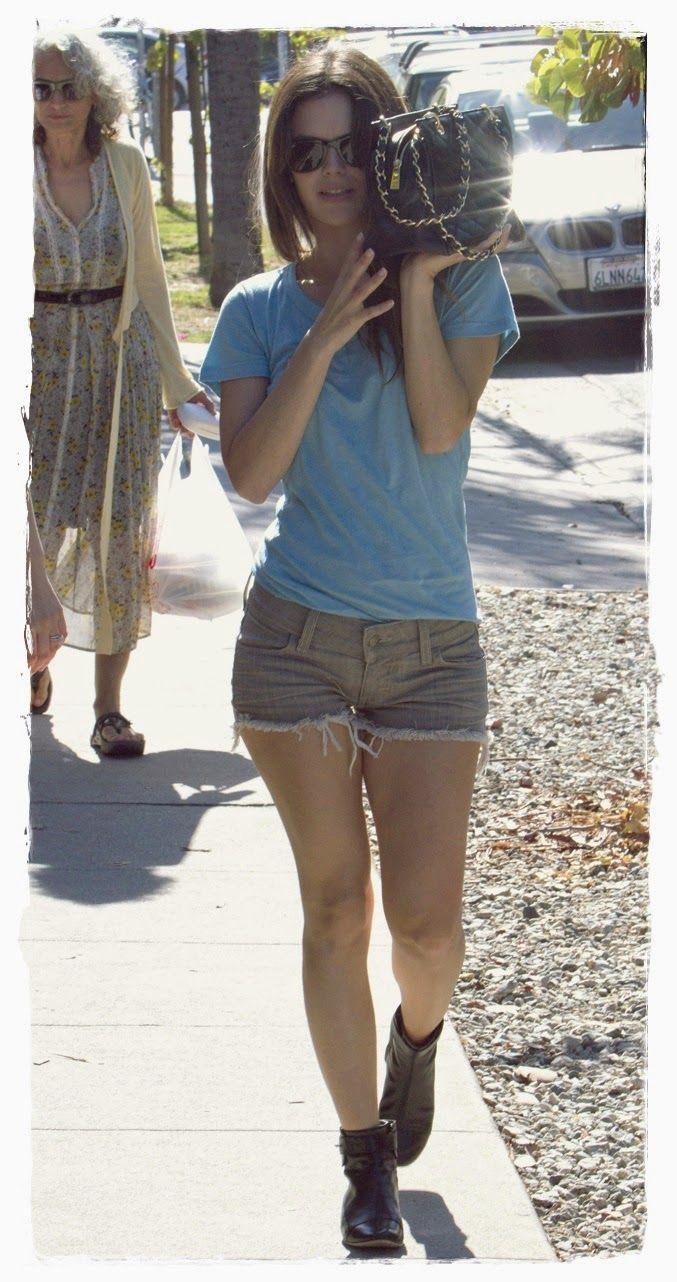 #Rachel #Bilson #Denim #Shorts Street Snapshot 07