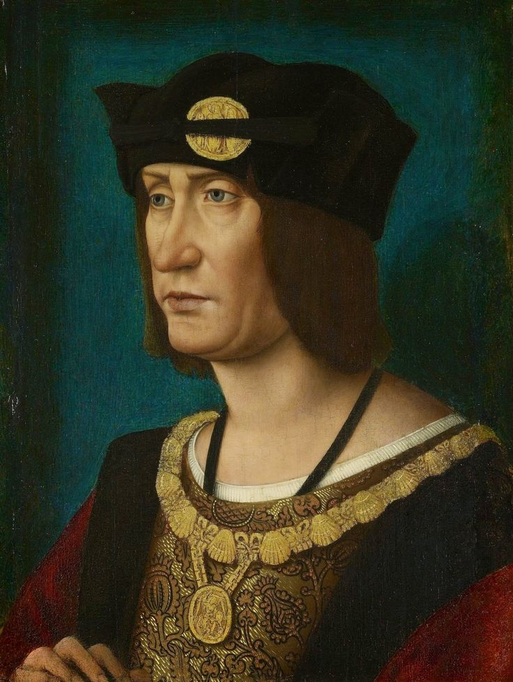 Portrait de Louis XII, roi de France. Jean Perréal (vers 1455-1527/29) - Windsor, collections de S.M. la Reine d'Angleterre.   Louis XII of France, Mary Tudor's first husband. On 9 October 1514, at the age of 18, Mary married the 52-year-old King Louis XII of France at Abbeville. One of the Maids of Honour who attended her in France was Anne Boleyn.