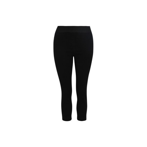 George Cropped Denim Jeggings ($15) ❤ liked on Polyvore featuring pants, black, super skinny pants, skinny trousers, skinny fit pants, denim jeggings and denim crop pants