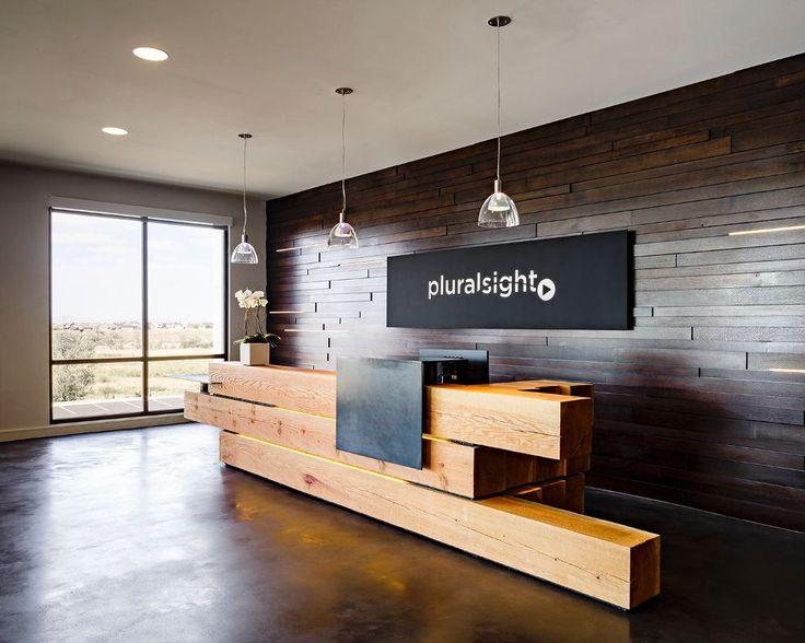 Pluralsight Front Desk - Pluralsight - Farmington, UT (US) | Reception desk design