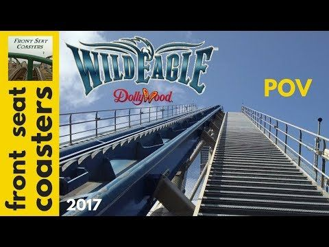 Wild Eagle POV Full HD Dollywood 2017 Roller Coaster Front Seat On Ride - YouTube